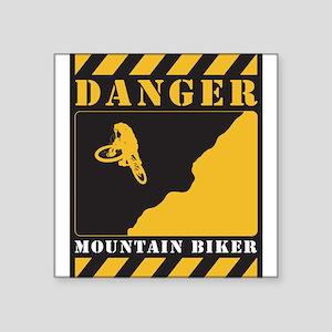 Danger Sign Square Sticker