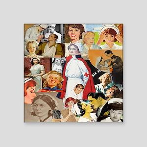 V intage Nurse CollageSquare Sticker