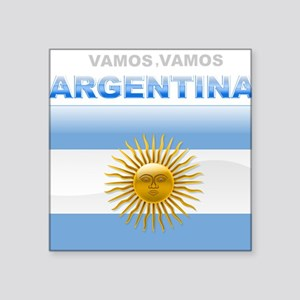 Vamos Argentina Square Sticker