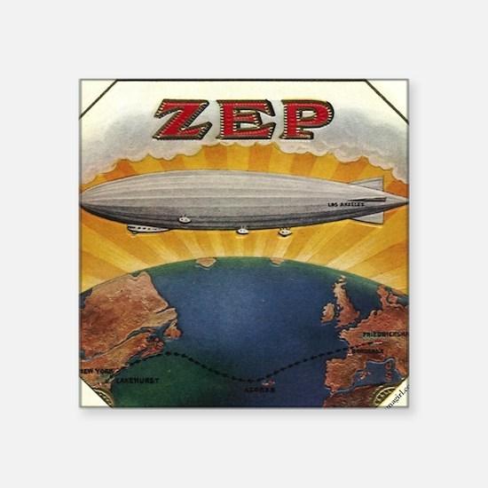 Zep Antique Cigar Label Zeppe Square Sticker