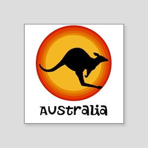Aussie Sun Square Sticker