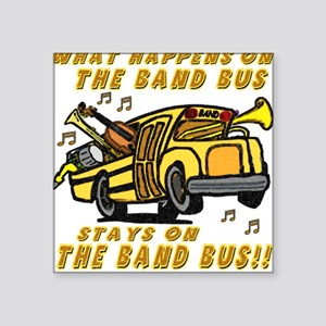 Band Bus Square Sticker