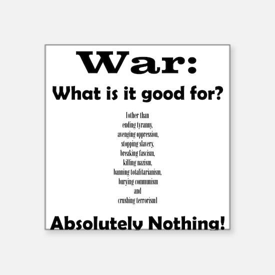 War Square Sticker