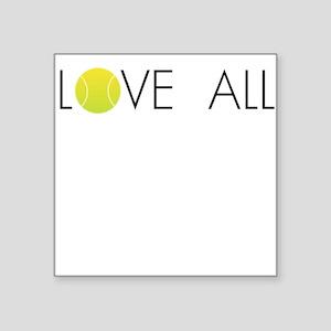 Tennis Ball LOVE ALL Square Sticker
