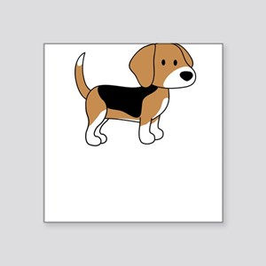 Cute Beagle Square Sticker