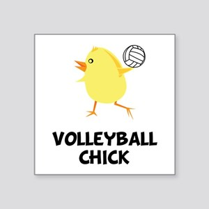 Volleyball Chick Square Sticker