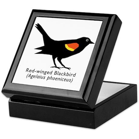 red-winged blackbird Keepsake Box