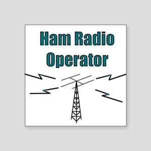 Ham Radio Operator Square Sticker