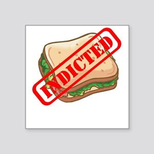 Indicted Ham Sandwich Square Sticker