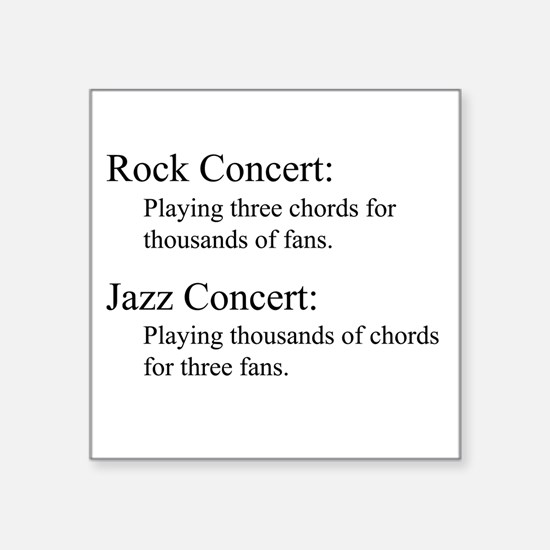 Jazz Concert Square Sticker