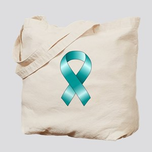 Teal Ribbon Tote Bag