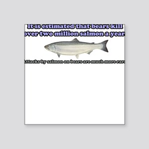 Salmon Attack Square Sticker