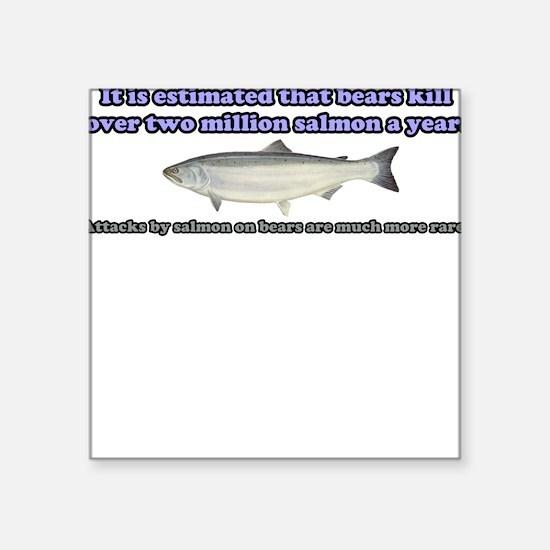 Salmon Attack Square Sticker