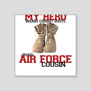 Combat boots: USAF Cousin Square Sticker