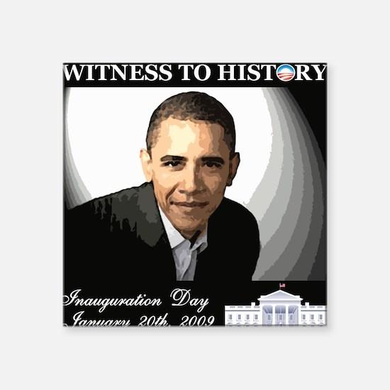 Obama Over WhiteHouse Square Sticker