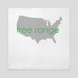 free range green Queen Duvet