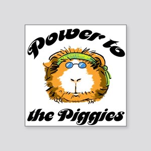 Power to the Piggies Square Sticker