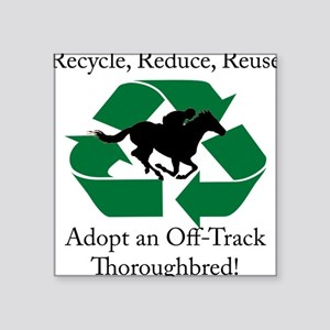 Adopt an OTTB Square Sticker