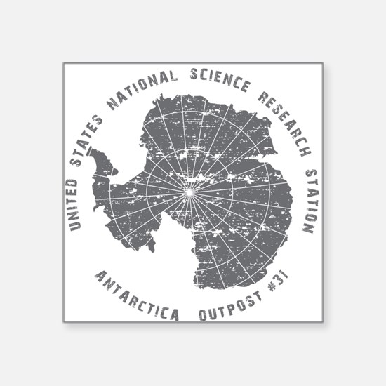 Outpost 31 on White Square Sticker