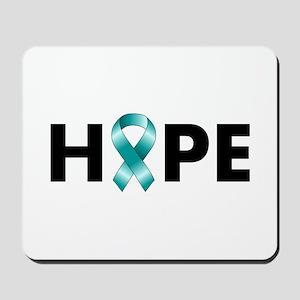Teal Ribbon Hope Mousepad