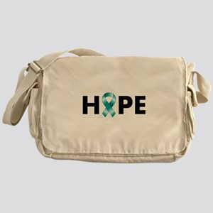 Teal Ribbon Hope Messenger Bag