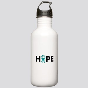 Teal Ribbon Hope Stainless Water Bottle 1.0L