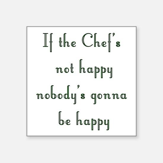 Chef Square Sticker