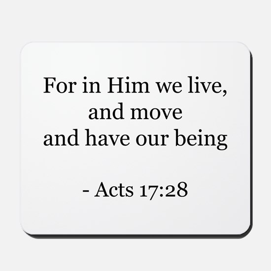 Acts 17:28 Mousepad