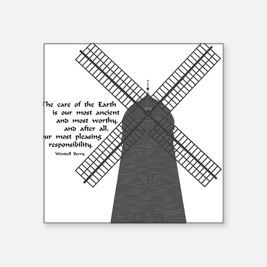 Windmill Square Sticker