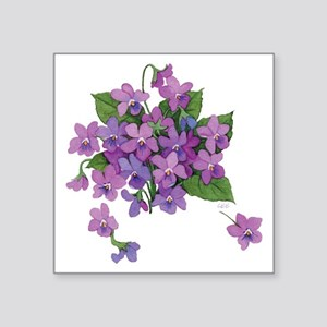 Violets Square Sticker