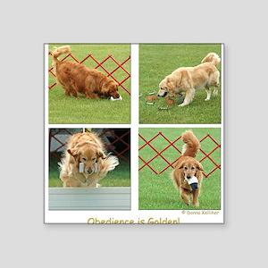 Golden Retriever Obedience Square Sticker