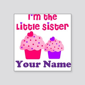 Big Sister Cupcake Custom Square Sticker