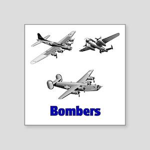 Bombers Square Sticker