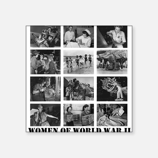 Women of WWII Square Sticker