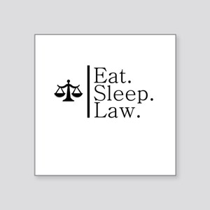 Eat. Sleep. Law. (Scales) Square Sticker