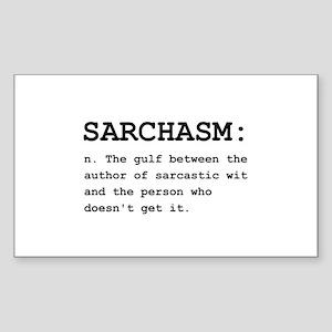 Sarchasm Definition Black Sticker (Rectangle 1