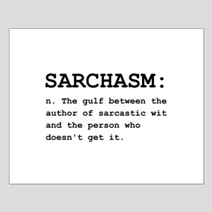 Sarchasm Definition Black.png Small Poster