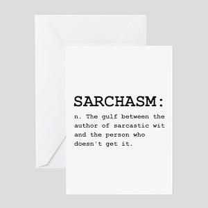 Sarchasm Definition Black Greeting Card