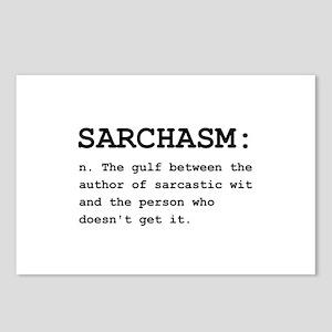 Sarchasm Definition Black Postcards (Package o