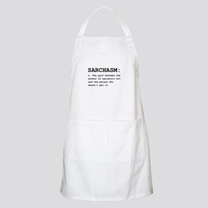 Sarchasm Definition Black Apron