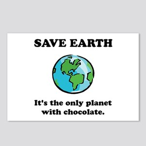 Save Earth Chocolate Black Postcards (Package