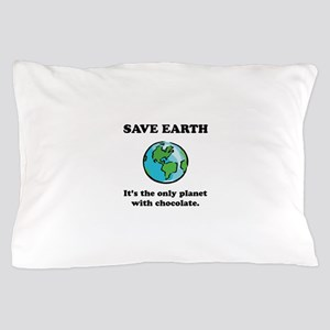 Save Earth Chocolate Black Pillow Case