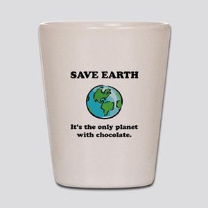 Save Earth Chocolate Black Shot Glass