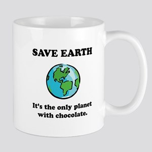 Save Earth Chocolate Black Mug