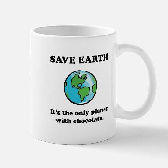 Save Earth Chocolate Black.png Mug