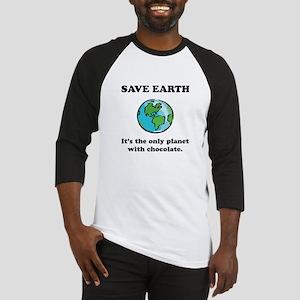 Save Earth Chocolate Black Baseball Jersey
