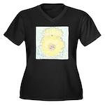 Yellow Cactus Flowers Women's Plus Size V-Neck Dar
