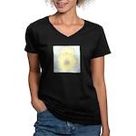 Yellow Cactus Flowers Women's V-Neck Dark T-Shirt