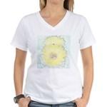 Yellow Cactus Flowers Women's V-Neck T-Shirt