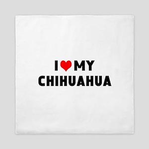 LUV MY CHIHUAHUA Queen Duvet